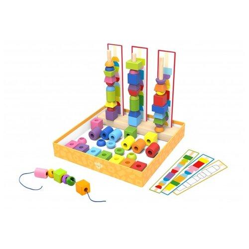 Пирамидка-сортер Tooky Toy Maze Beads Game Box