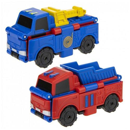 Машинка 1Toy Transcar Double: Эвакуатор-Самосвал, 8 см, с механизмом трансформации, блистер (Т18276) недорого