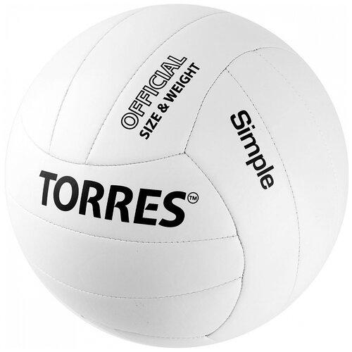 Волейбольный мяч TORRES Simple V32105 белый