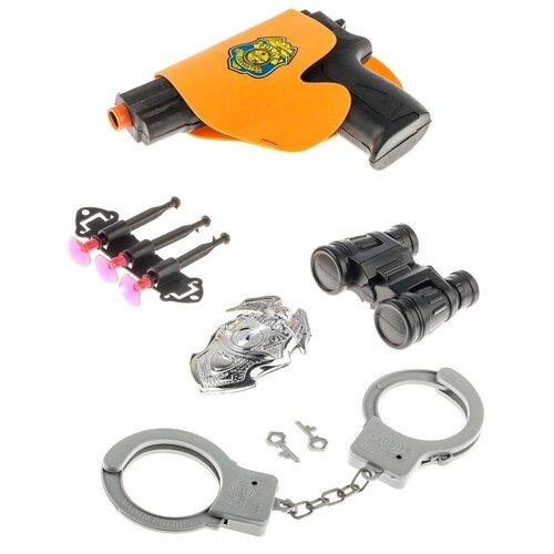 Купить Набор полицейского для мальчиков и девочек пистолет, бинокль, наручники, аксессуары, Panawealth Inter Holdings, Игрушечное оружие и бластеры