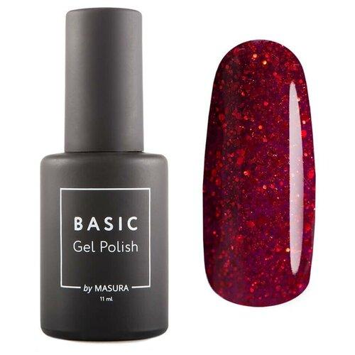 Гель-лак для ногтей Masura Basic, 11 мл, алая вишня гель лак для ногтей masura basic 11 мл саргассово море