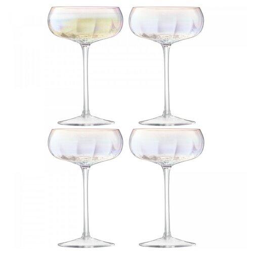 Бокал-креманка для шампанского Pearl 4 шт. LSA G1332-11-401 бокал для белого вина pearl 4 шт lsa g1332 12 401