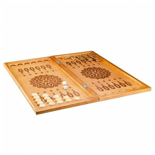 Фото - Настольная игра Игра Нарды большие тонированные фишки деревянные 28мм Игра игра