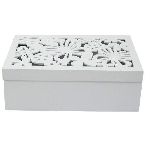 Русские подарки Шкатулка Бабочки 238323 белый русские подарки шкатулка для ювелирных украшений 79212 белый