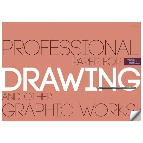 Бумага Bruno Visconti для рисунка и графики (A2), 160г/м², 10 л. кремовый