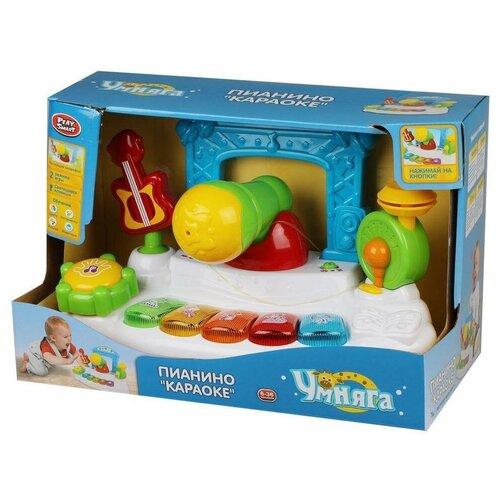 Купить Развивающая игрушка Play Smart Умняга Пианино Караоке, белый/голубой/зеленый, Развивающие игрушки