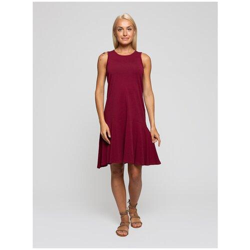 Женское легкое платье сарафан, Lunarable бордовое, размер 48