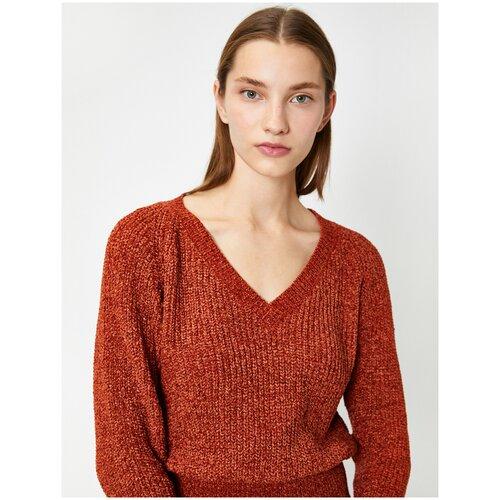 Пуловер KOTON, размер S(36), 510 коричневый
