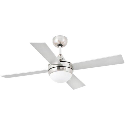 Фото - Потолочный вентилятор Faro Barcelona Mini Icaria, matt nickel потолочный вентилятор faro barcelona cebu white