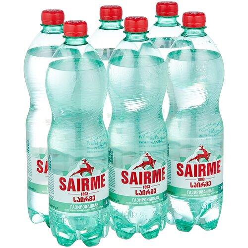 Фото - Вода минеральная лечебно-столовая Sairme газированная ПЭТ, 6 шт. по 1 л вода минеральная rudolfuv pramen природная лечебно столовая газированная пэт 12 шт по 0 5 л