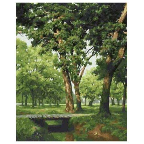 Цветной Картина по номерам Мостик в лесу 40х50 см (GX5677) картина по номерам 40х50 см леопард в лесу gx8340