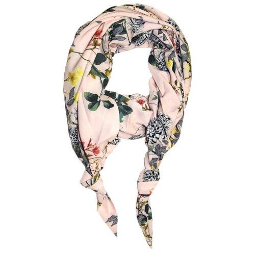 Шарф женский весенний, вискоза, шёлк, разноцветный, двойной шарф-долька Оланж Ассорти серия Апрель с узелками