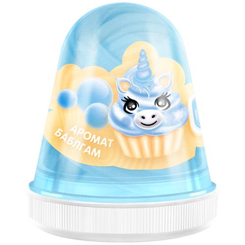 Лизун Monster's Slime Fluffy Slime с ароматом бабл-гам голубой