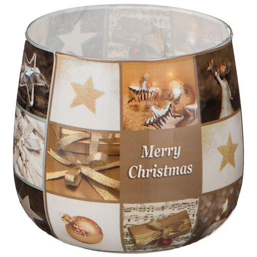 Свеча Adpal Merry Christmas, высота 7 см, диаметр 6 см (348-437)