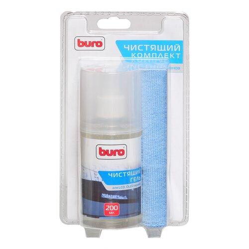 Фото - Набор Buro BU-Glcd чистящий гель+многоразовая салфетка для экрана, для ноутбука гель лак для ногтей planet nails planet nails pl009lwanhe8