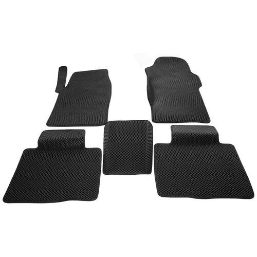 Автомобильные коврики салона EVA (комплект 5 шт.) черный ромб с черным кантом для УАЗ Патриот 2014 - наст. время