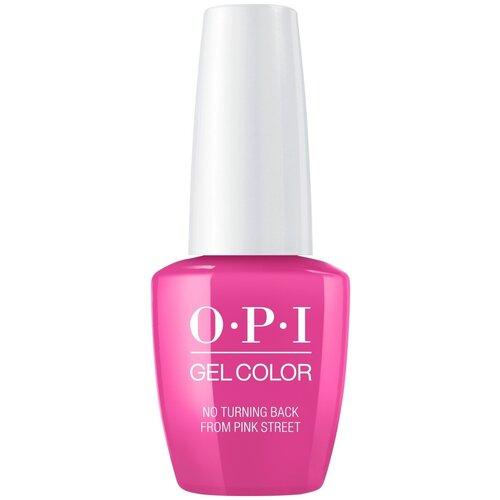 Гель-лак для ногтей OPI GelColor Lisbon, 15 мл, No Turning Back From Pink Street лак opi nail lacquer lisbon 15 мл оттенок no turning back from pink street