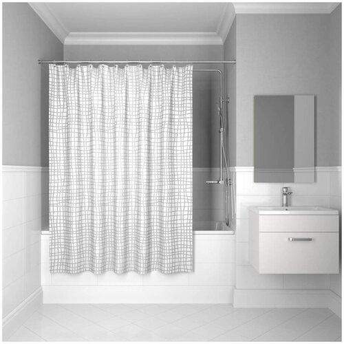 Фото - Штора для ванной IDDIS 341P20RI11 180x200 белый штора для ванной iddis 680p18ri11 180x200 зеленый черный