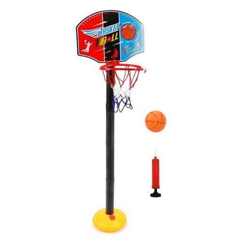 Купить Баскетбольная стойка 118 см Наша Игрушка (P9666) черный/желтый, Наша игрушка, Спортивные игры и игрушки