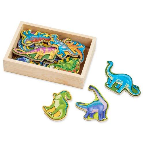 Купить Магнитные игры Деревянные магнитные динозавры Melissa Doug 476M, Melissa & Doug, Игровые наборы и фигурки