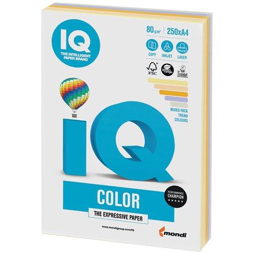 Фото - Бумага IQ Color A4 80 г/м² 250 лист. (5 цв. х 50 л.), тренд RB03 бумага iq color a4 80 г м² 250 лист 5 цв х 50 л тренд rb03