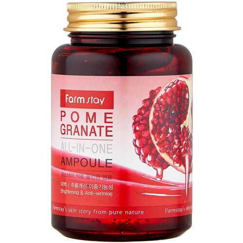 Farmstay All-In-One Pomegranate Ampoule Сыворотка для лица с экстрактом граната, 250 мл недорого
