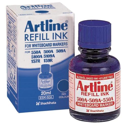 Чернила пигментные стираемые для маркеров для магнитной доски Artline ESK50, синие