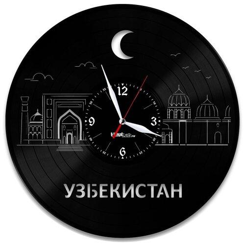Часы из виниловой пластинки (c) VinylLab Узбекистан