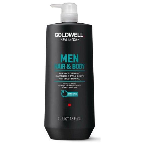 Купить Goldwell Dualsenses For Men Hair&Body Shampoo - Шампунь для мужчин для волос и тела 1000мл