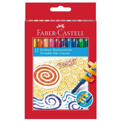 Faber-Castell Восковые мелки Twist, 12 шт