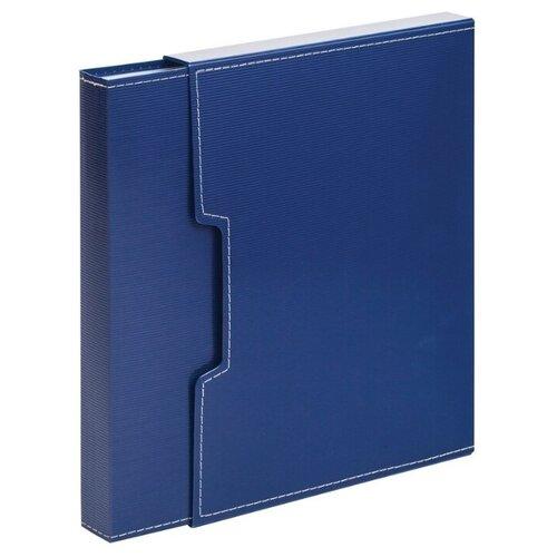 Attache Папка в коробе на 100 файлов, А4, пластик синий