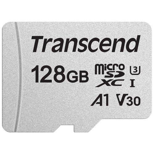 Фото - Карта памяти Transcend microSDXC 300S Class 10 UHS-I U3 A1 V30 128GB (TS128GUSD300S) securedigital 128gb transcend ts128gsdc500s sdxc class 10 uhs i u3 mlc