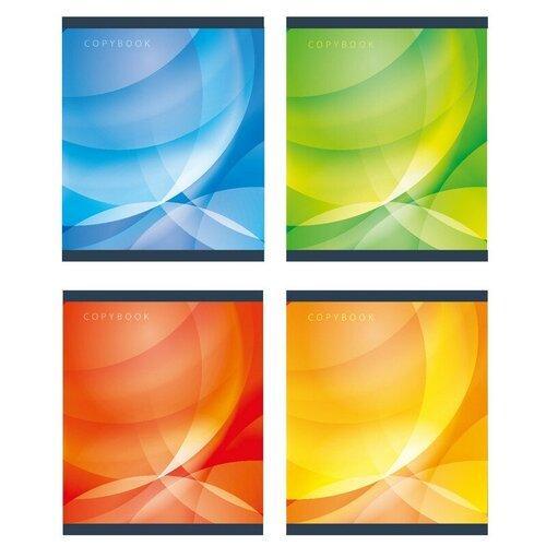 Купить Тетрадь общая А5, 60л, кл, скоб, блок-офсет-2 Attache Сфера син/зел/желт/красс 8 штук, Тетради