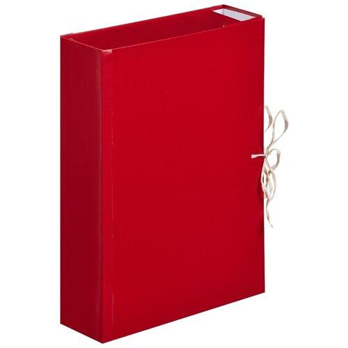Купить Папка архивная Attache А4, бум винил, корешок 8 см, 4 завязки (84965), Файлы и папки