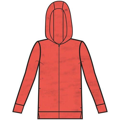 Толстовка на молнии с капюшоном для фитнеса женская 120 оранжевая, размер: XS, цвет: Красный NYAMBA Х Декатлон
