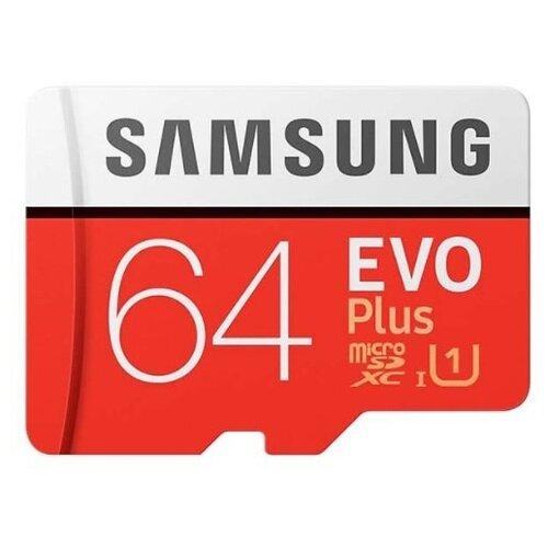 Карта памяти Samsung Micro SD 64 Гб (10 class) + SD адаптер