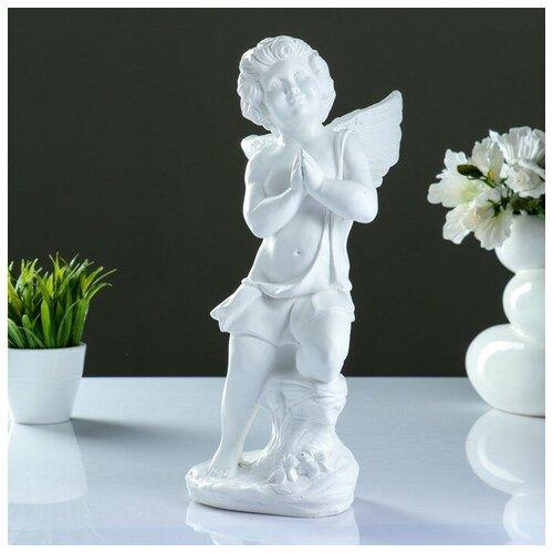 Фигура Ангел молящийся белый 18х18х38см фигура ангел пальчик во рту белый 8х9х15см 3865133