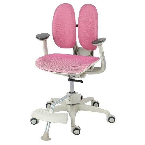 компьютерное кресло duorest kids max детское обивка искусственная кожа цвет светло зеленый Компьютерное кресло DUOREST Kids ai-50 Mesh MDF детское, обивка: искусственная кожа, цвет: розовый