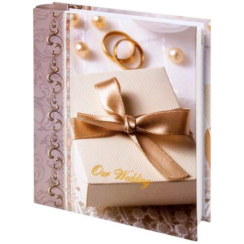 Фотоальбом BRAUBERG Свадебный подарок (391153), 200 фото, 10 х 15 см, бело-бежевый