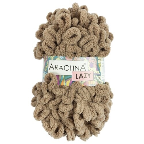 Купить Набор пряжи ARACHNA Lazy , микрополиэстер, 5*100 г 8, 5 м, №08 светлый коричневый, Изготовление кукол и игрушек