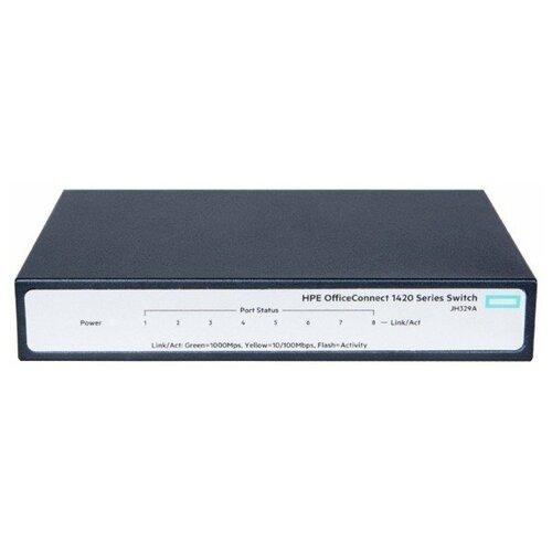 Фото - Коммутатор HP OfficeConnect 1420 8G Switch JH329A коммутатор hp 1420 jh330a коммутатор hp hpe 1420 8g poe 64w switch