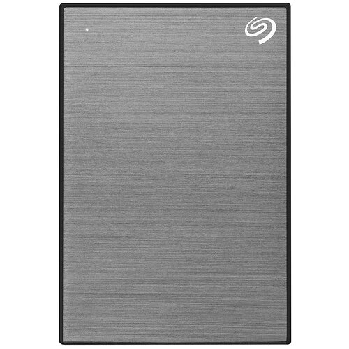 Внешний HDD Seagate Backup Plus Slim Portable Drive 1 ТБ, серый космос внешний hdd seagate backup plus ultra touch 1 тб черный