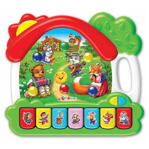 развивающая игрушка азбукварик музыкальный домик ферма зеленый Развивающая игрушка Азбукварик Музыкальный домик Сказки, зеленый