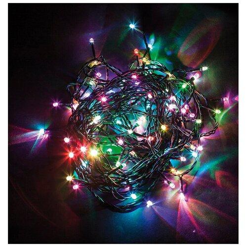 Гирлянда Feron Нить CL92 500 см, 500 ламп, разноцветные диоды/зеленый провод