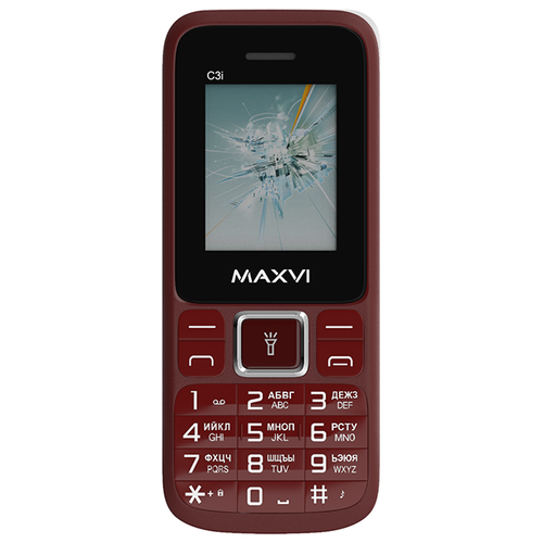 Телефон MAXVI C3i красное вино