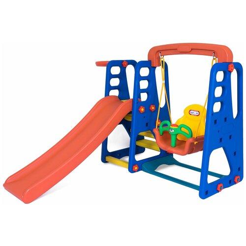 Купить Детский игровой комплекс Happy Box JM-701 для дома и улицы: детская горка, баскетбольное кольцо с мячом, подвесные качели (производитель Южная Корея), Игровые и спортивные комплексы и горки