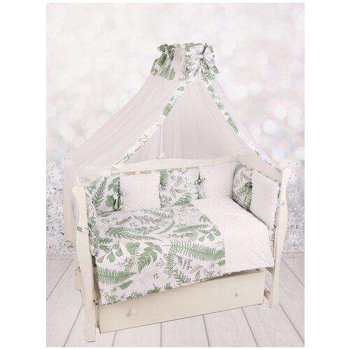 Amarobaby комплект в кроватку Exclusive Soft Collection Папоротники (7 предметов) белый/зеленый amarobaby комплект в кроватку exclusive soft collection папоротники 7 предметов белый зеленый