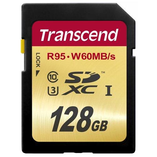 Фото - Карта памяти Transcend TS*SDU3 128 GB, чтение: 95 MB/s, запись: 60 MB/s карта памяти cf 128gb transcend 800x 120 60 mb s
