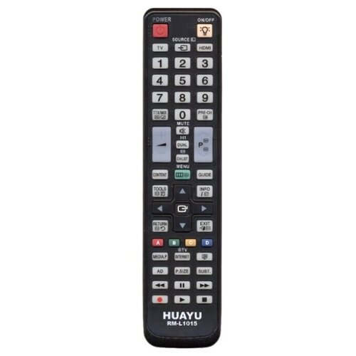 Фото - Пульт ДУ Huayu RM-L1015 для телевизоров Samsung, черный пульт ду huayu для samsung ah59 02147k