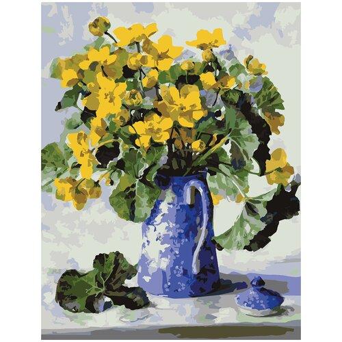 Купить Картина по номерам Лютики, 70 х 100 см, Красиво Красим, Картины по номерам и контурам